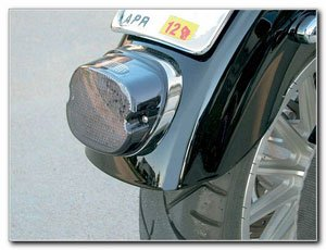 Bkrider Smoke Led Low-Profile W/ Top Tag Light For Harley-Davidson