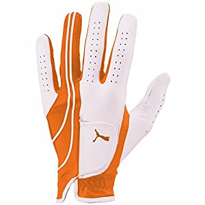 Puma Form Stripe Perform Left Hand Glove, Medium, Vibrant Orange