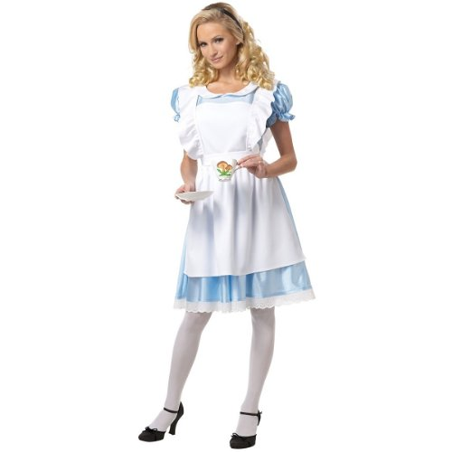 Classic Alice in Wonderland Costume - Medium - Dress Size 8-10