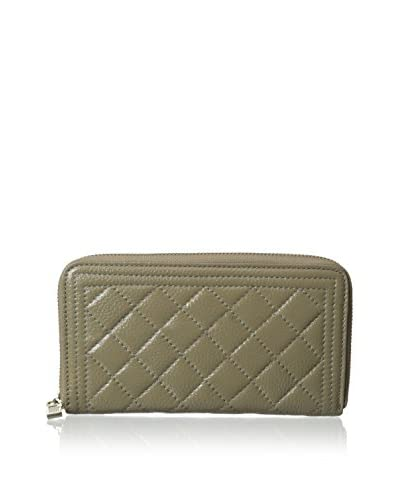 Zenith Women's Quilt Leather Wallet, Taupe