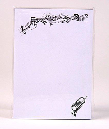 Notizblock-mit-Bleistift-und-Radiergummi-Flgelhorn-Schnes-Geschenk-fr-Musiker