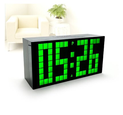 Riorand™ Ultra Large Big Number Jumbo Led Snooze Wall Desk Alarm Clock With Ultra Narrow Frame Design- Green Light