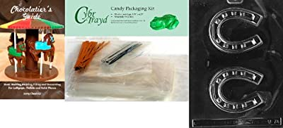 Cybrtrayd Horseshoe Chocolate Candy Mold with Exclusive Cybrtrayd Copyrighted Chocolate Molding Instructions