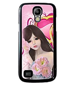 PRINTVISA Princess Premium Metallic Insert Back Case Cover for Samsung Galaxy S4 Mini - D5793