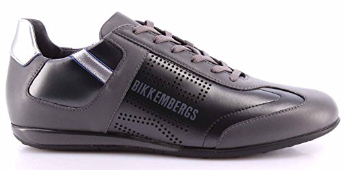 Scarpe Uomo Sneakers BIKKEMBERGS BKE 107456 R-Evolution 52 Antracite Grey Grigio