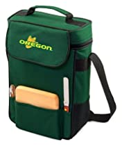 Oregon Ducks Duet Insulated Wine and Cheese Tote - Hunter Green w/Embroidery
