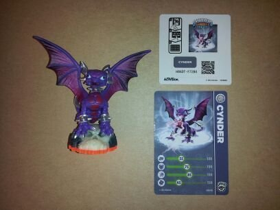 Skylanders-Giants-LOOSE-Figure-Cynder-Includes-Card-Online-Code-by-Activision-TOY-English-Manual