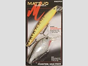 Matzuo phantom asai pack of 2 fishing lures for Matzuo fishing rod