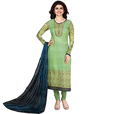 Designer Wedding Georgette Embroidered Salwar Kameez (Un-Stitched Dress Material)