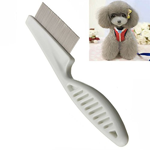 MyZenStore Dog Hair Brush Comb Hair Flea Cleaning Comb Stainless Steel Comb Dog Grooming Groom Brush (Groom On A Broom compare prices)