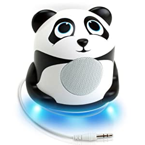 Groove Pal Panda Jr. High-Powered Portable Mini Speaker System with Enhanced Bass Woofer - Works with Smartphones , Tablets , MP3 Players & More!