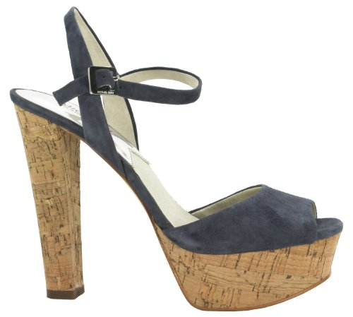Michael Michael Kors Women'S Lucia Suede Platform Sandals (8 M Us Women, Denim Suede) front-952136