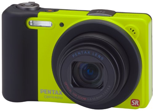PENTAX Optio RZ10 14 MP Digital Camera with 10X Optical Zoom and 2.7-inch LCD (Green)
