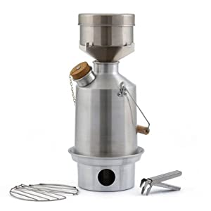 Camp Stove by Kelly Kettle. This Medium Aluminum Scout Cook Stove Complete Kit, is... by Unknown