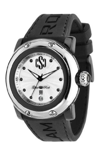 Glam Rock 0.96.2339 - Reloj analógico de cuarzo unisex, correa de silicona color negro