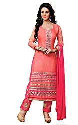 Bridal collection Pink Cotton Embroidered Salwar Suit