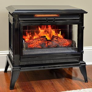 Jackson Black Infrared Electric Fireplace Heater - CS-25IR-BLK