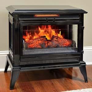 Jackson Black Infrared Electric Fireplace Heater Cs 25ir Blk Home Kitchen