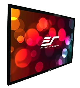 Elite Screens ER114WX1 Sable Fixed Frame Projection Screen -114 -Inch 16:10 AR