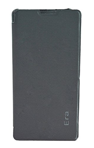 TOTTA Hard Back Flip Cover For Xolo Era- Black