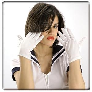 LIBROLANDIA 03224 Guanti bianchi lungh.cm.24 in busta c/cavallotto