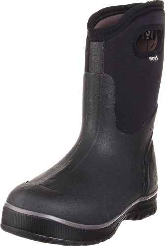 Bogs Men's Ultra Mid Waterproof Insulated Rain Boot, Black,7 M US