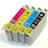 EPSON(エプソン) IC4CL46 4色セット 純正互換インクカートリッジ ICチップ付(残量表示機能) インク本舗オリジナル商品