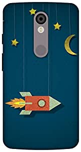 The Racoon Grip printed designer hard back mobile phone case cover for Motorola Moto X Force. (space cowb)