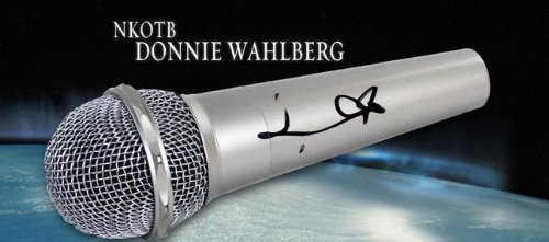 New Kids On The Block Nkotb Donnie Wahlberg Signed Microphone