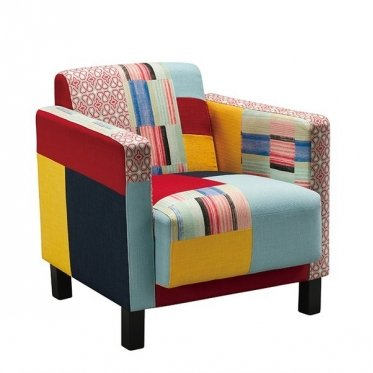 Cubik Armchair Patchwork Multi-Coloured