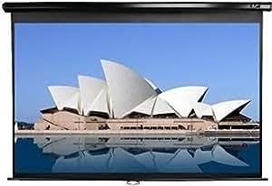 Elite M120UWH2 Manual Pull Down 120 inch Projector Screen - Black