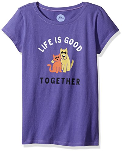 Life is good Girl's TOGETHER Hug Tee, Blue Violet, Medium (Life Is Good Kids compare prices)