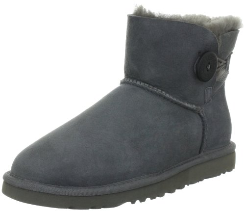 ugg-w-mini-bailey-button-damen-kurzschaft-schlupfstiefel-grau-grey-37-eu-45-damen-uk