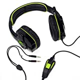 Sades Stereo Headset Headband PC Notebook Pro Game Headset Microphone Green IP87