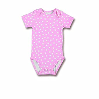 Baby Boum Unisex Baby 'Youmi Candy' Cotton Lycra Short Sleeve Babygrow Spotty/Candy Pink 6-12 Months