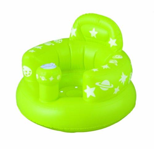 Smart Start おすわりしたまま洗って流せる バスソファ ポンプアップ グリーン