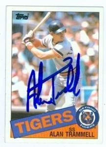 Alan Trammell Autographed Hand Signed Baseball Card Detroit