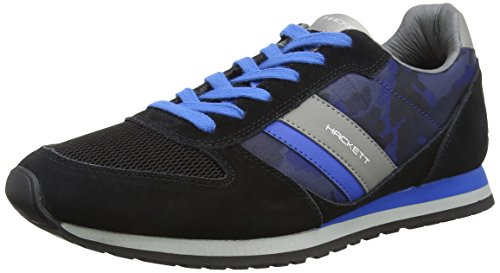 HACKETT - Sutton Street Sneaker, Pantofole da uomo, multicolore (9dublk/grey), 41