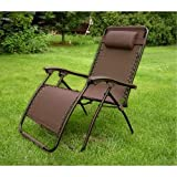 Brown Zero Gravity Extra Wide Recliner Lounge Chair - NASA-recognized design!
