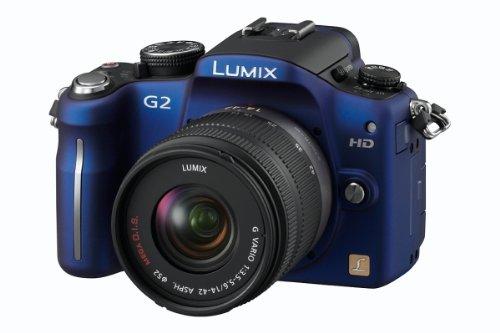 Panasonic Lumix G2 12.1MP Compact System Camera Kit - Blue