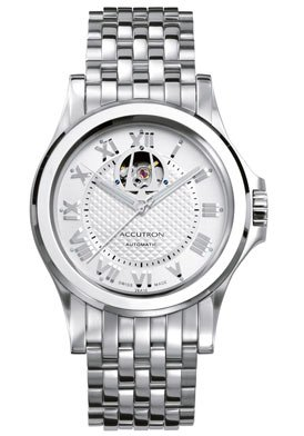 Accutron Men's 26A10 Gemini Automatic Skeleton Window Watch
