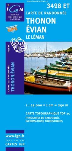 gps randonnée carte ign 25000 Télécharger Thonon / Evian / Lac Leman GPS: Ign.3428et [Carte] de