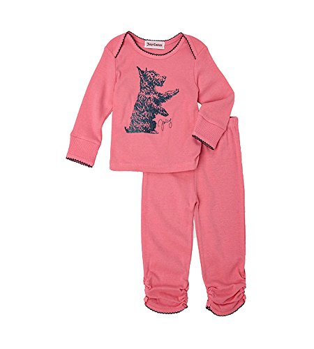 Juicy Couture Baby Girls Glitter Dog Top & Leggings Outfit Set