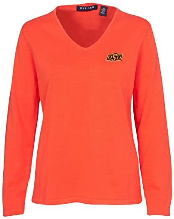 Oxford NCAA Oklahoma State Cowboys Ladies Carson V-Neck Sweater by Oxford