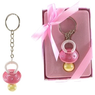 Baby Pacifier With Crystals Key Chain - Pink [48 Pieces] *** Product Description: A Baby Pacifier With Crystals Key Chain. Each Comes In A Designer Gift Box With Clear Plastic Cover And A Satin Ribbon Bow. These Favors Are Designed For Gifting Ri ***