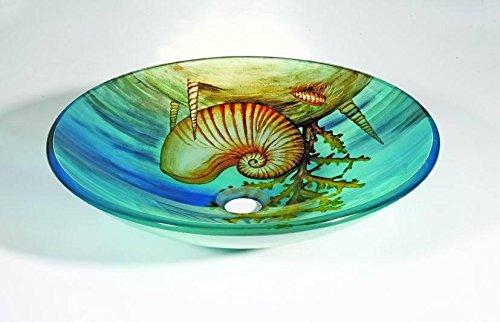 FEN style Mer lavabos en verre à chaud sculpture Art Vasque lavabo T12 * O420 * H145mm (005), T12 * 565 * 355 * H110mm (001), T12 * ø400 * H145mm (004), T12 * Ø450 * H145mm , 003