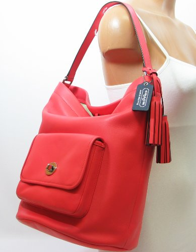 COACH Legacy Archival Bucket Bag in Bright Coral 21193
