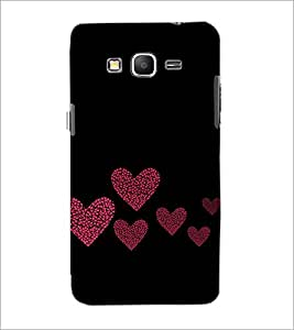 PrintDhaba Hearts D-2422 Back Case Cover for SAMSUNG GALAXY GRAND PRIME (Multi-Coloured)
