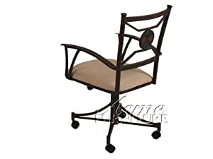 Metal Side Chairs With Casters By Acme Furniture Chairs
