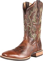 Ariat Men\'s Tombstone Western Cowboy Boot, Weathered Chestnut, 7 M US
